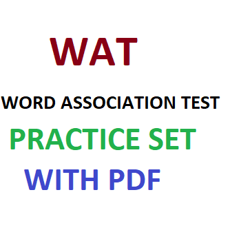 WORD ASSOCIATION TEST ( WAT ) PRACTICE PDF FILE - CAREER STUDY